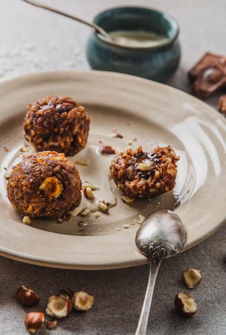 Recette arancini sucres chocolat noisette riz de camargue