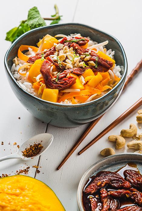 poke bowl de bœuf riz de camargue