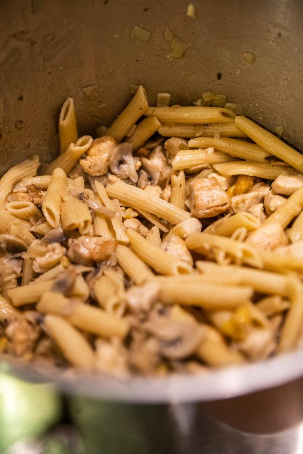 Recette pastasotto aux champignons